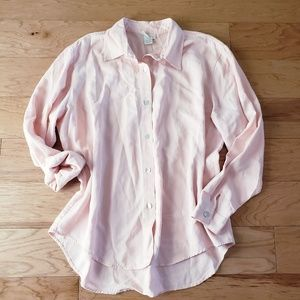 Soft Surroundings Pink Tencil Button Down